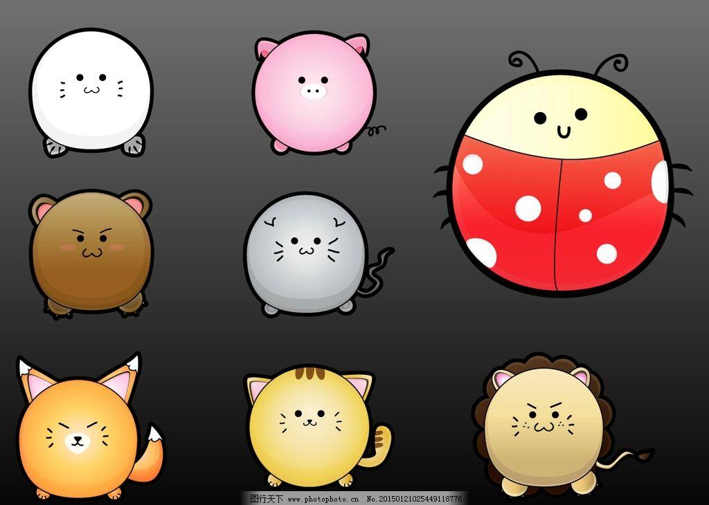 猫咪 老鼠 可爱动物 动物昆虫 甲壳虫 花 蜜蜂 七星瓢虫 设计灵感