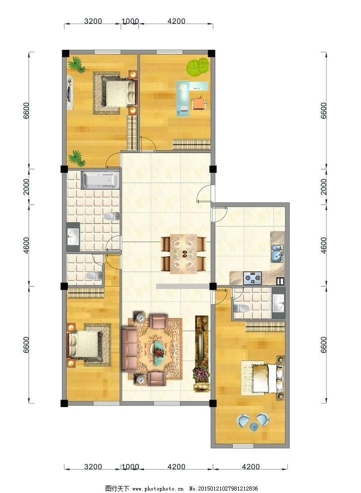 室内效果图 带尺寸效果图 平面布置效果  设计 环境设计 室内设计  ai