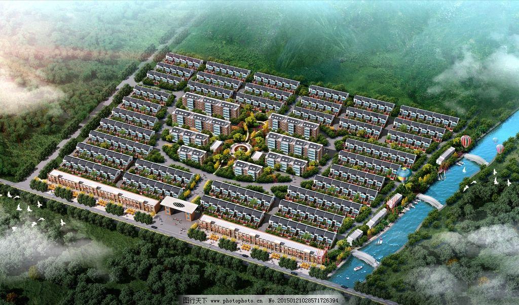 社区 鸟瞰 建筑        规划 设计 环境设计        72dpi jpg