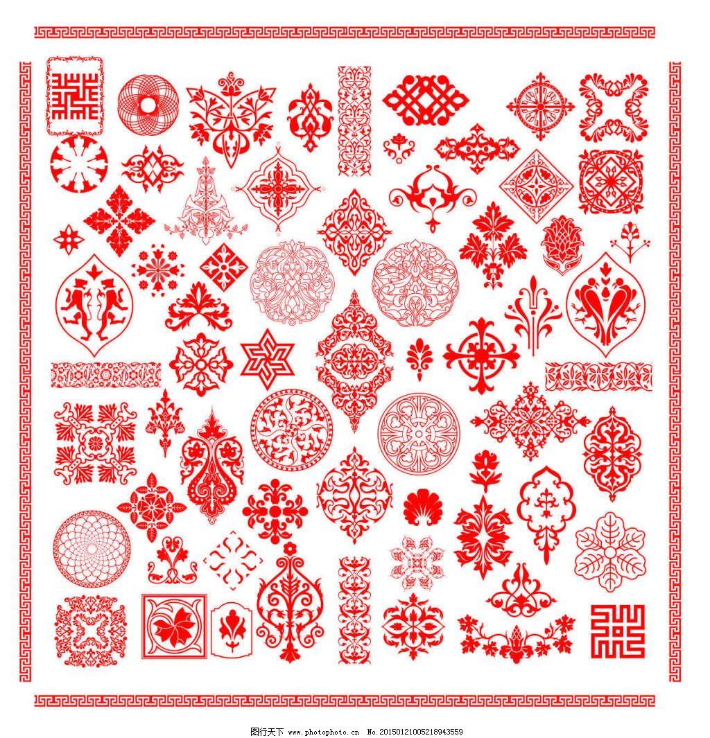中国古典图案,源文件,万字文,欧式花纹 矢量图 花纹花边