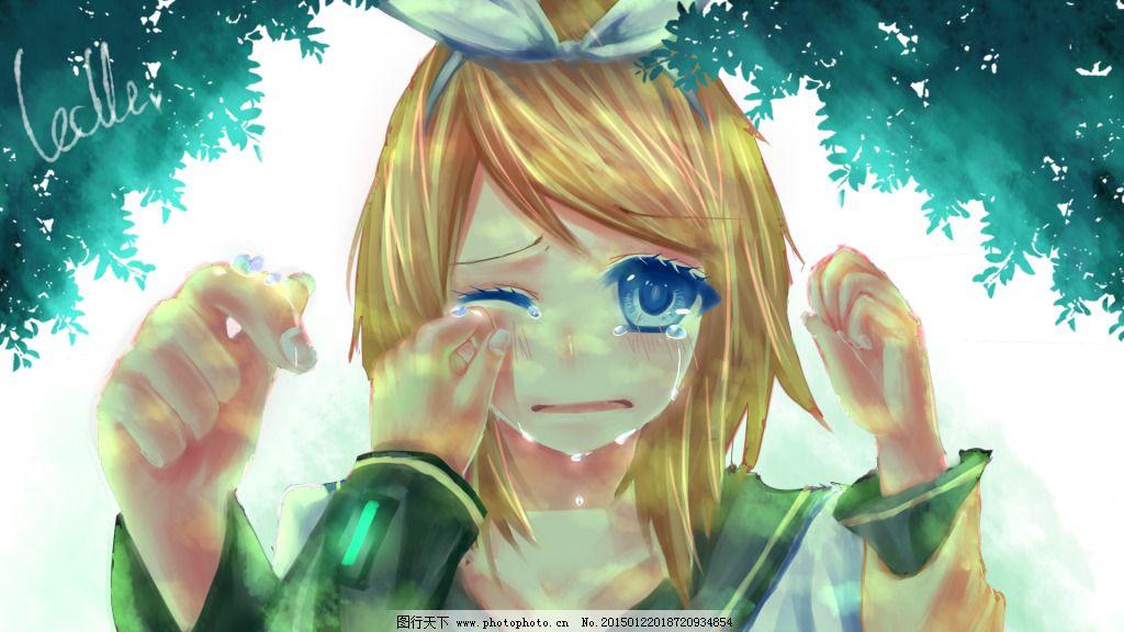 哭泣rin,动漫 少女 眼睛 图片素材 卡通动漫可爱图片