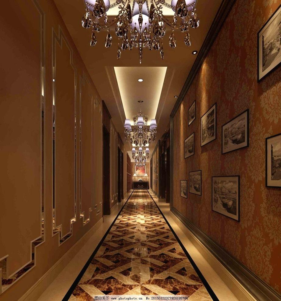 酒店过道效果图图片