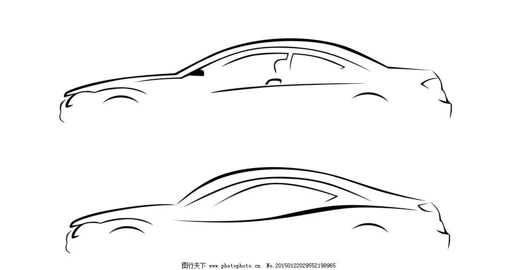 汽车简笔画素材