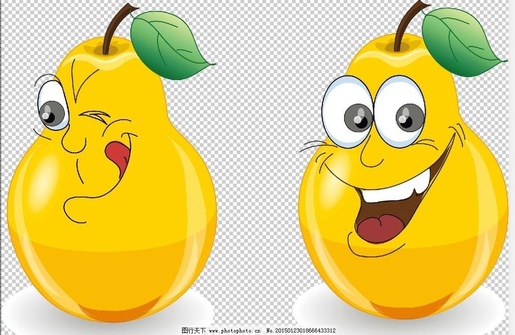 素描躺着的梨子步骤图-蜡笔画 黄黄的梨子图片