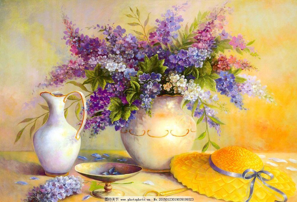 绘画书法  油画 油画花卉 花卉油画 静物油画 花瓶 果瓶 欧式油画