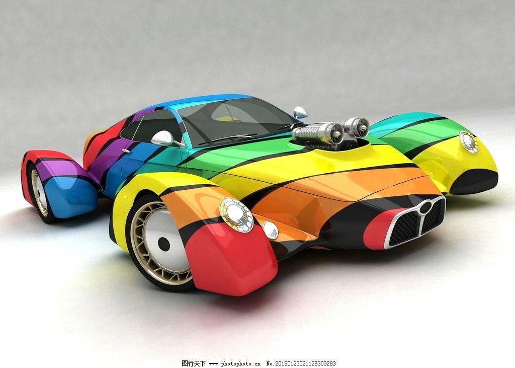 概念汽车设计效果图图片_3d作品设计_3d设计_图行天下