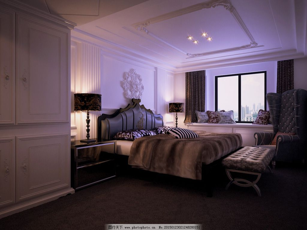 高雅卧室免费下载 高雅 模型 欧式      艺术 模型      高雅 艺术 欧
