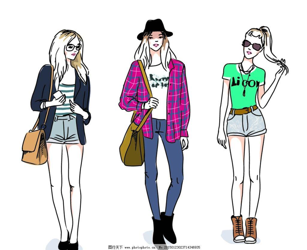女性素描头像 美女 卡通女生 简笔画插图 矢量 设计 eps 设计 人物