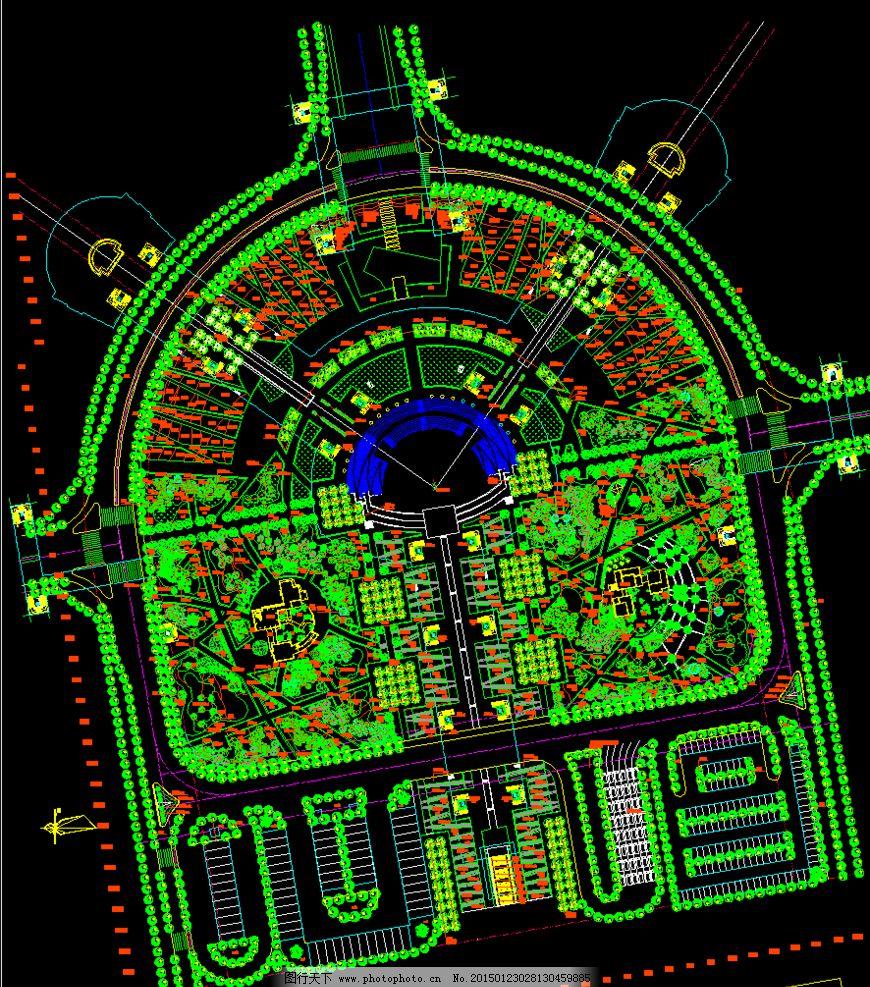 张家界火车站广场绿化总平面图图片