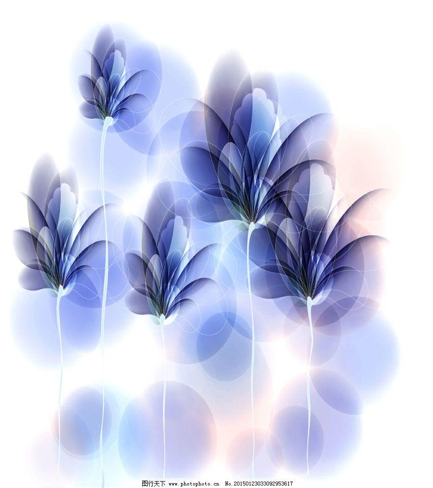蓝色花素材图片
