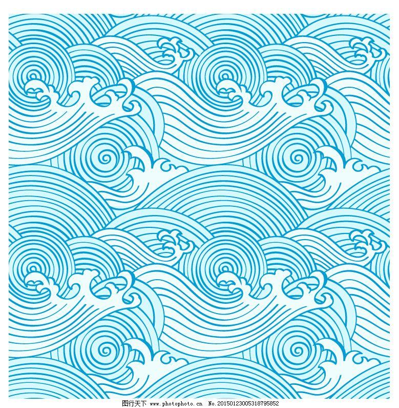 线描海浪_广告设计_矢量图