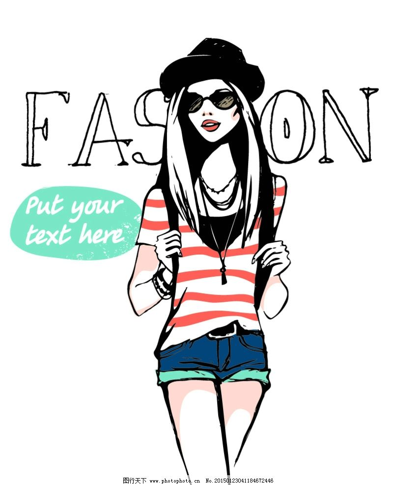 手绘少女 女孩 女人 帅哥 型男 男孩 时尚美女 女性素描头像