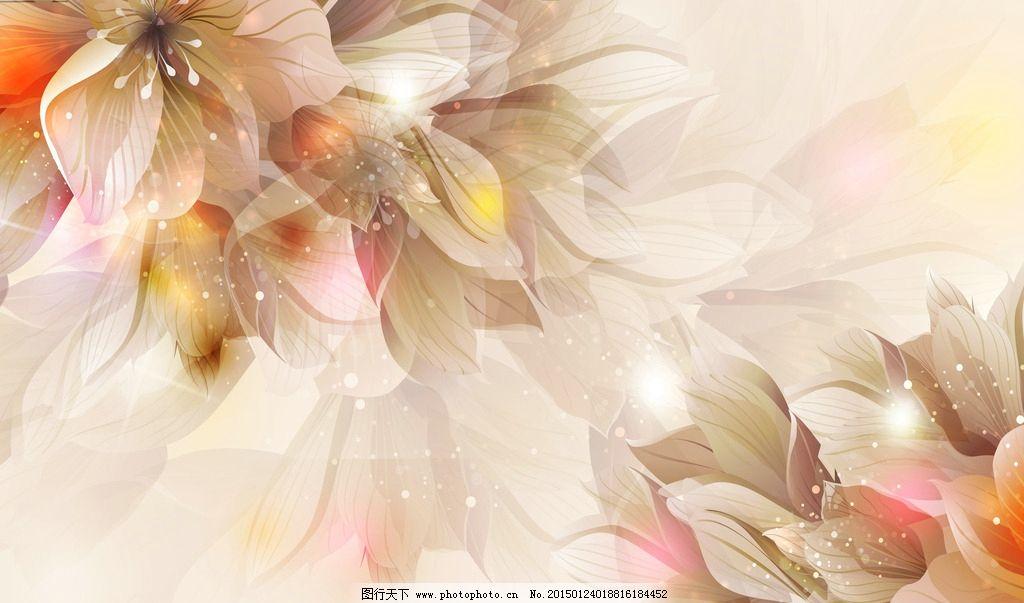 唯美梦幻花卉花朵装饰画图片