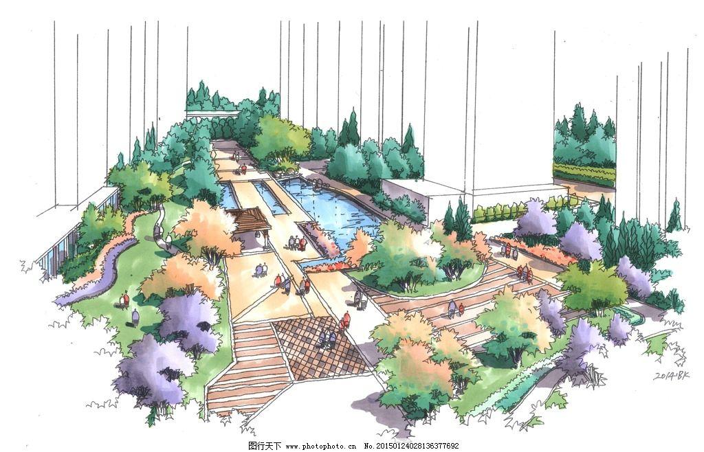 艺筑手绘 鸟瞰 景观手绘 规划手绘 成都手绘 手绘 设计 环境设计 景观