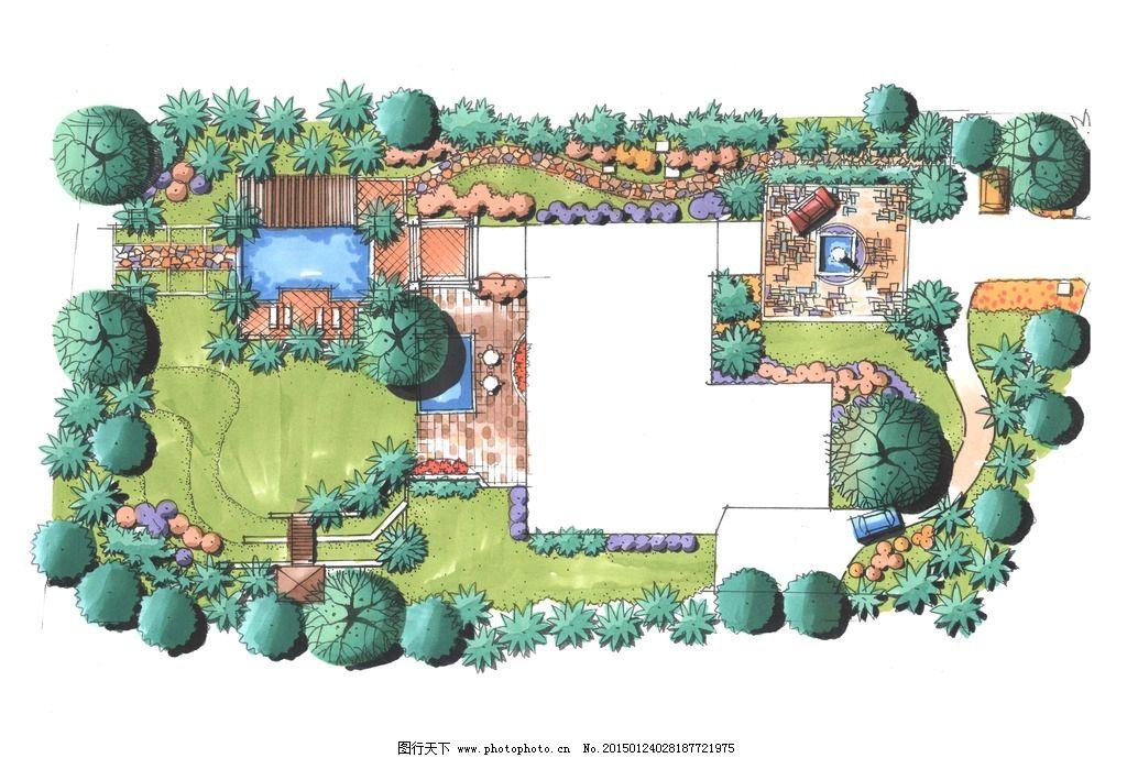 手绘平面图图片_景观设计_环境设计_图行天下图库