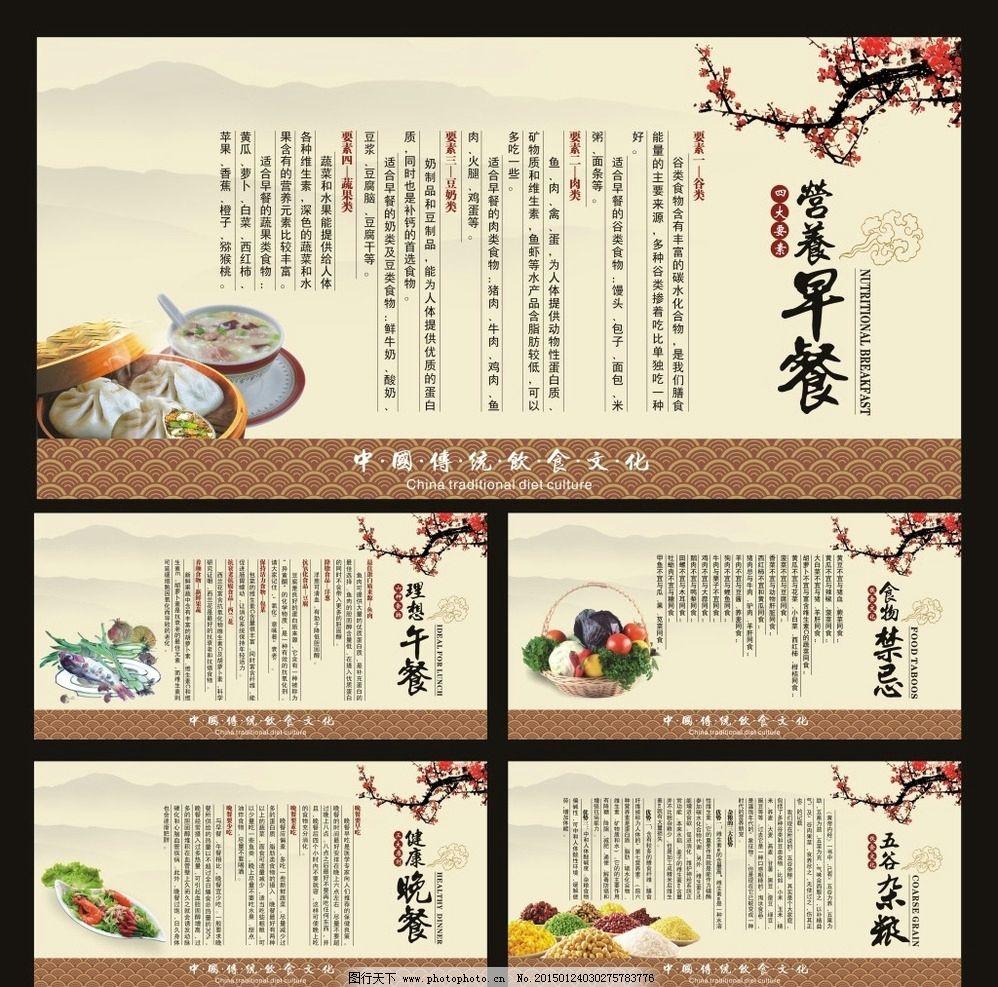 中国传统饮食文化养生展板图片