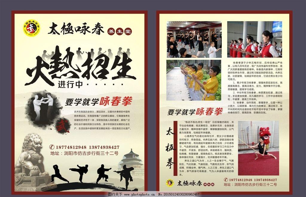 太极 咏春 武术 dm宣传单 招生宣传单 武校宣传单 培训学校 咏春拳 太