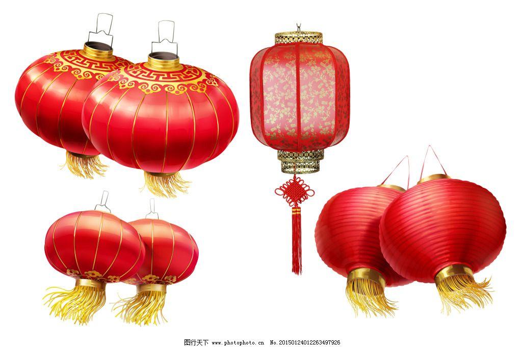 水彩手绘古风桃树灯笼