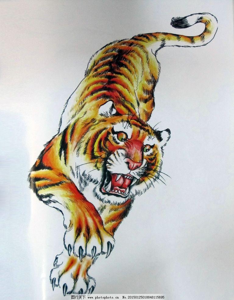 阿亮传统刺青画集 下山虎彩色图片