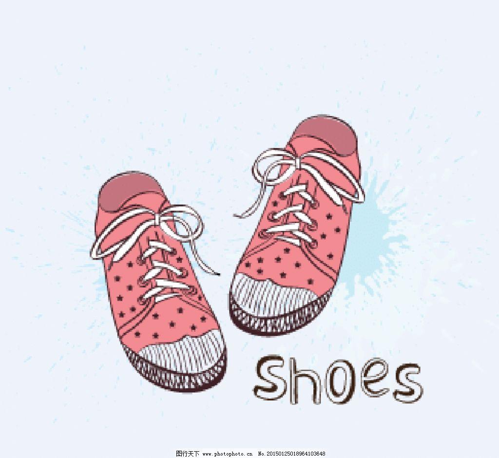 手绘卡通鞋子图片