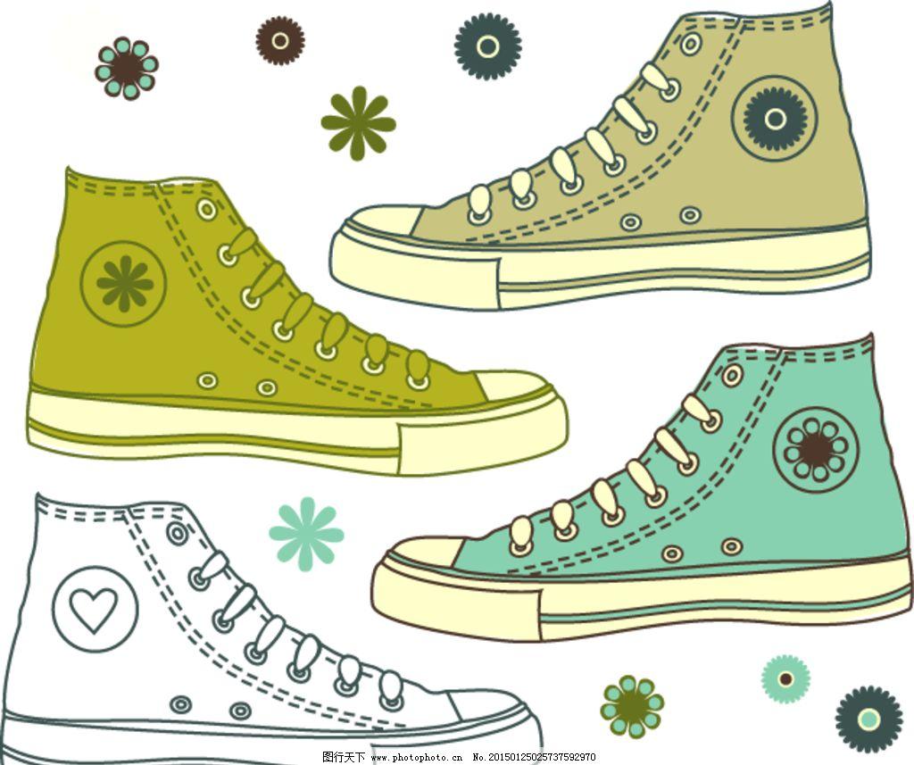 手绘时尚帆布鞋 鞋子图片