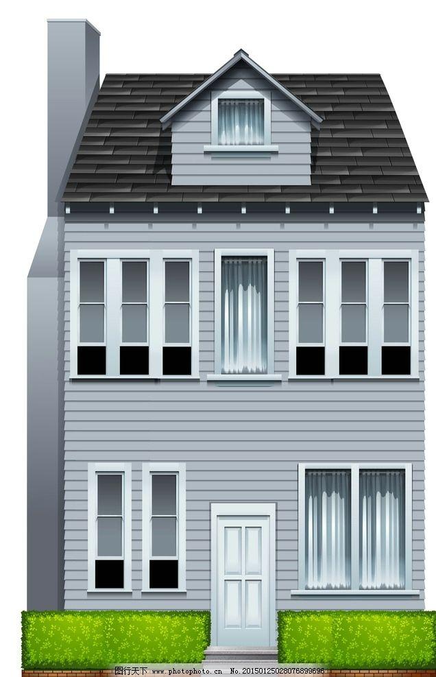 别墅 房屋 屋子 欧式建筑 楼房 国外小洋楼 城市建筑 矢量 eps 设计