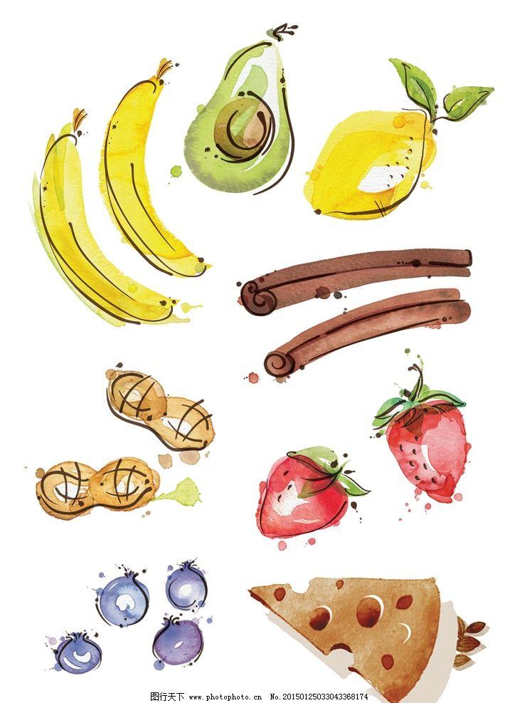 手绘 水果蛋糕花生图片