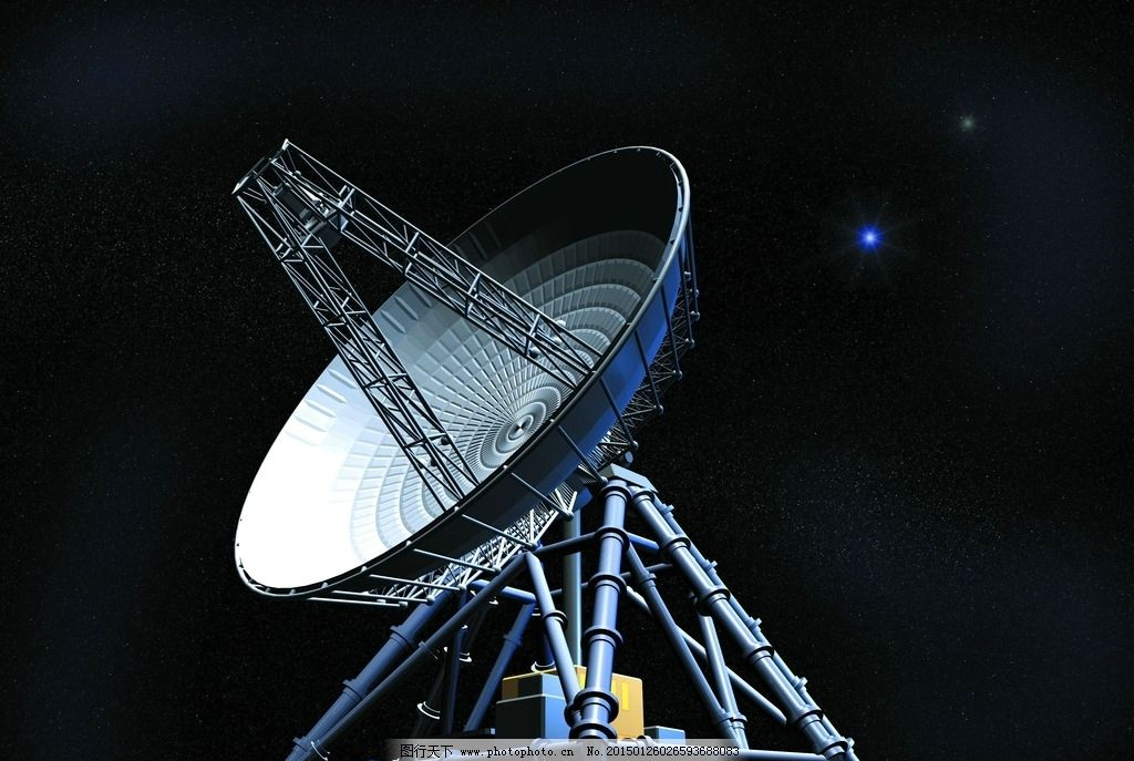 太空 卫星 信号接收器 黑夜 星空  设计 现代科技 科学研究 72dpi jpg