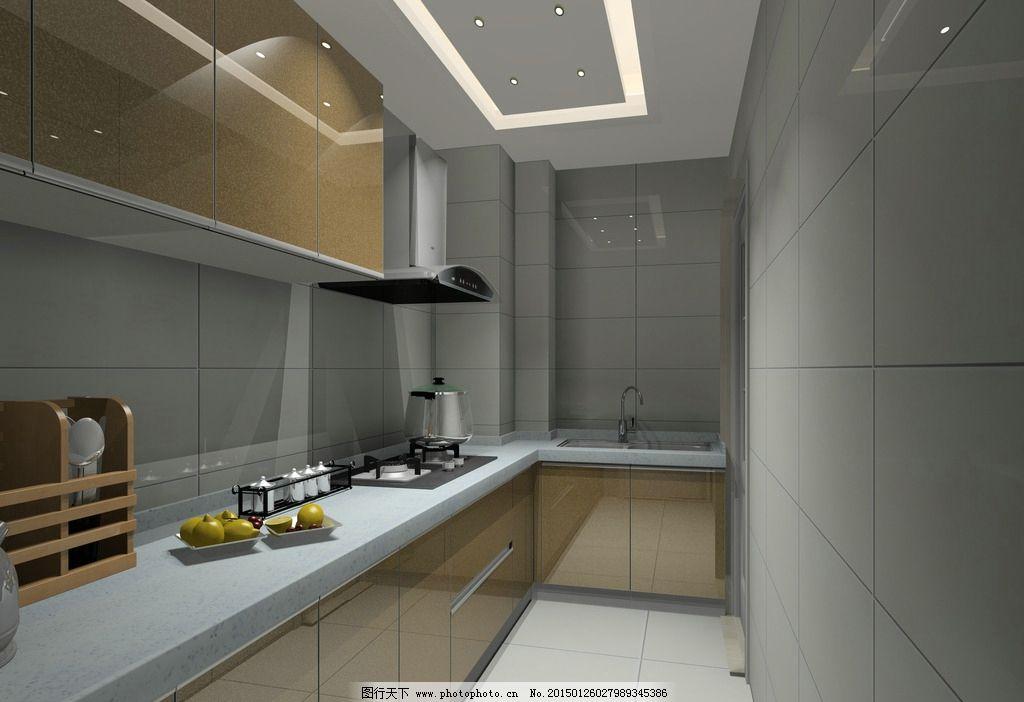 现代橱柜 简约 时尚 烤漆橱柜 土豪金 橱柜 设计 环境设计 室内设计 7