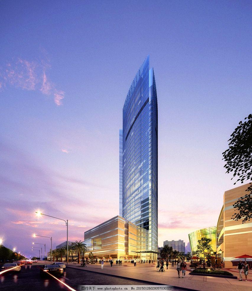手绘效果图 设计 环境设计 建筑设计 商业建筑 办公建筑 cbd 中央商务