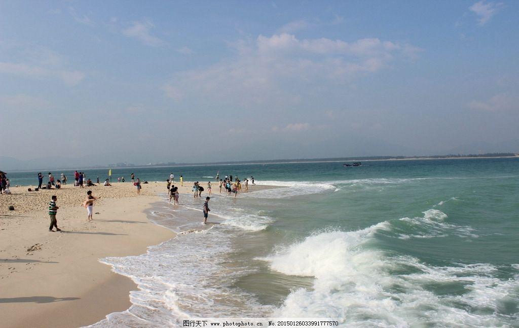 大海 海滩 沙滩 海浪 三亚 海南岛 蜈支洲岛 海洋 游艇 海边石头 椰风
