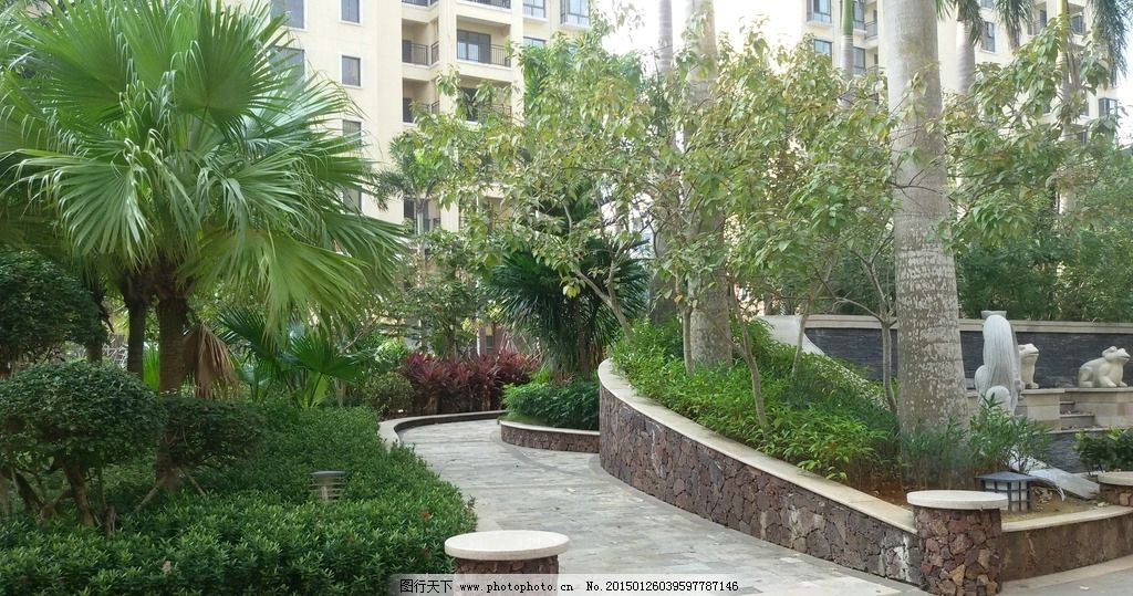 小区景观 小区环境 景观设计 住宅楼 小区植物 园林建筑集锦 摄影