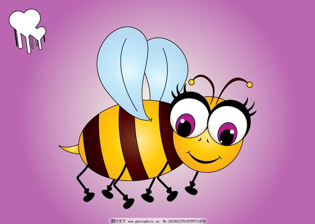 卡通蜜蜂 蜜蜂 动物 卡通 漫画 设计 动漫动画 其他 300dpi 矢量卡通