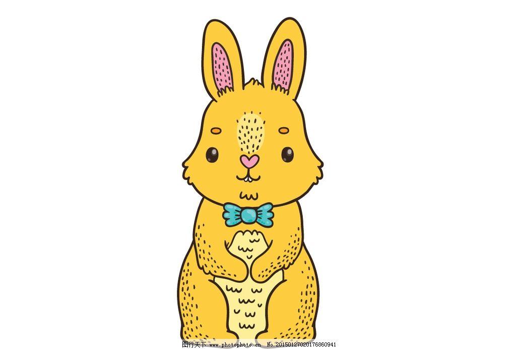 卡通兔子 卡通兔子矢量 各式卡通兔子 气球 矢量素材 其他矢量
