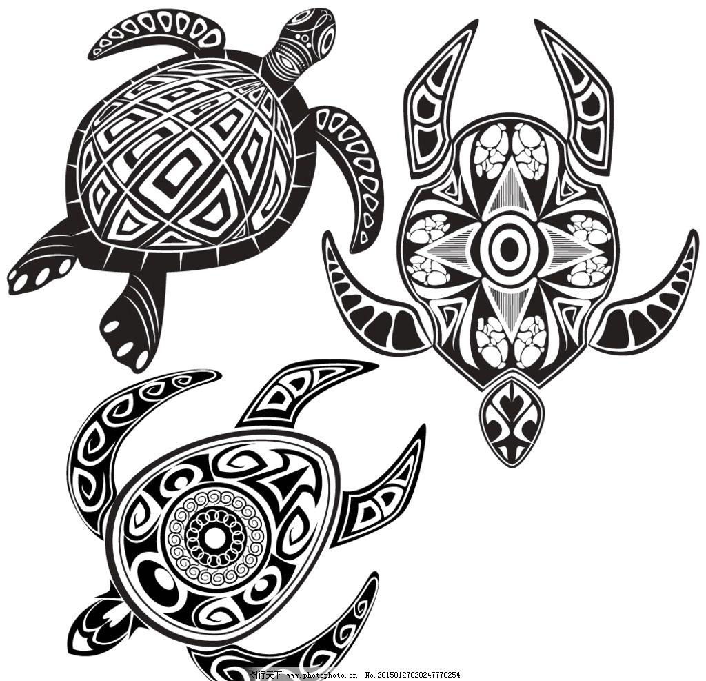 动物花纹 纹理 乌龟 装饰花纹 花纹 线条 手绘 墙纸 壁纸 底纹背景