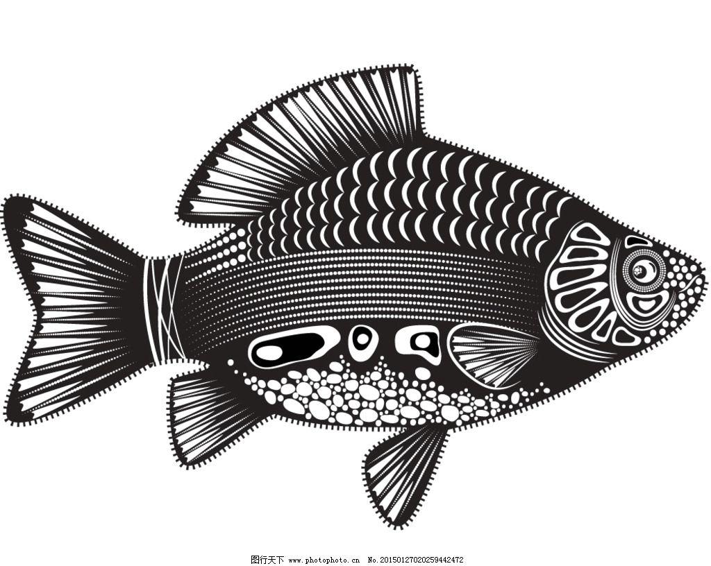 纹理 鱼 装饰花纹 花纹 线条 手绘 墙纸 壁纸 底纹背景 矢量 eps 设计