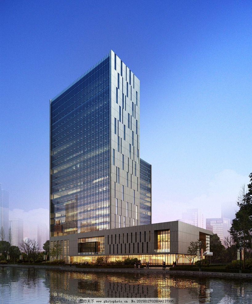 办公建筑 建筑效果图 3d设计 环境设计        设计 环境设计 建筑