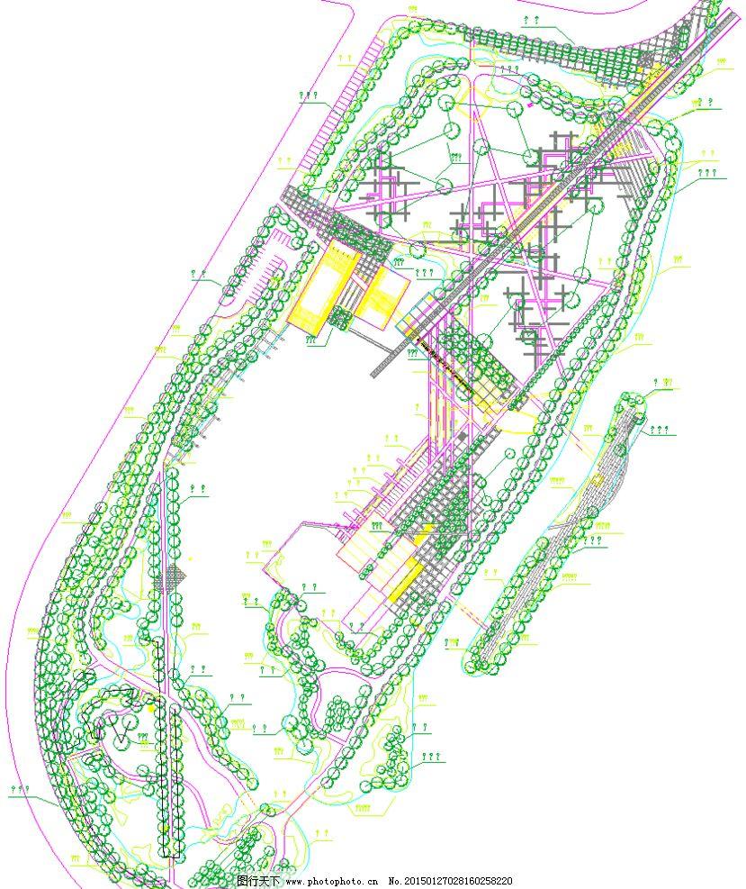 公园景观 总平面图片_景观设计_环境设计_图行天下图库
