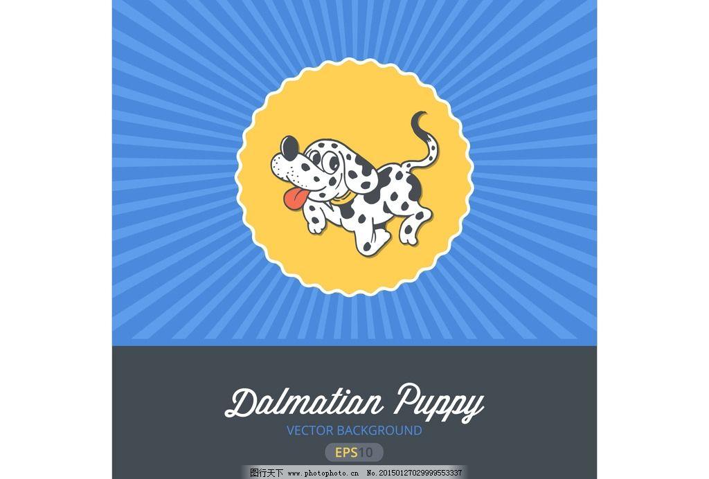 斑点狗贺卡图片