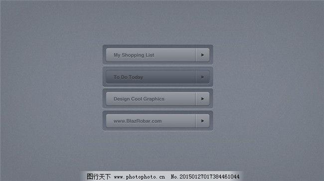 风格简洁素材灰色UI按钮艺术设计狗年图片