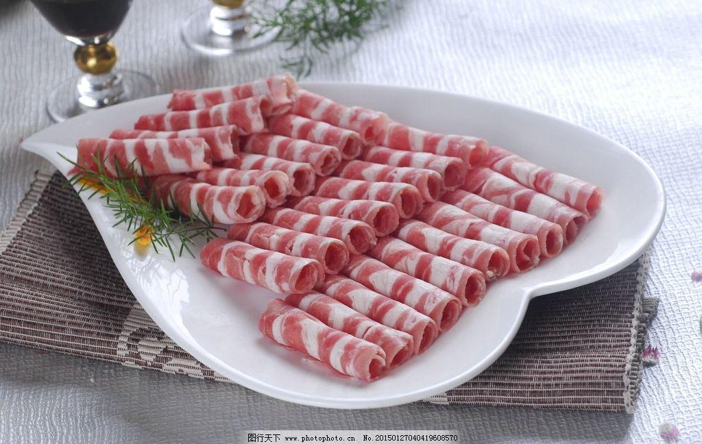 牛肉卷菜品菜谱上脑肥羊电子绝配模板羊肉火锅火锅肥牛米尔图片