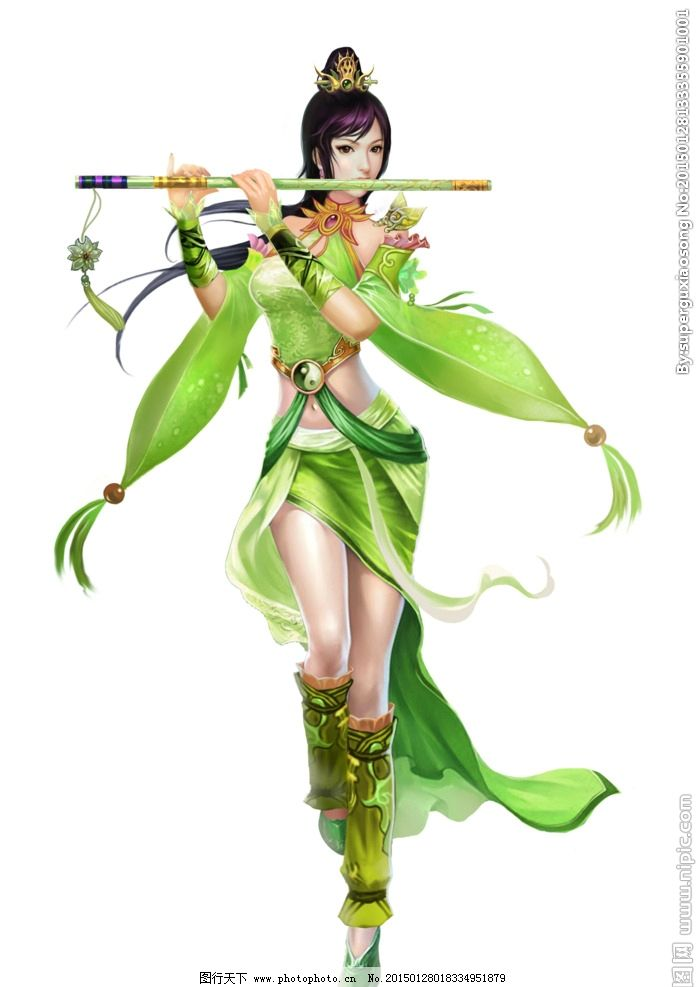 绿衣仙子图片