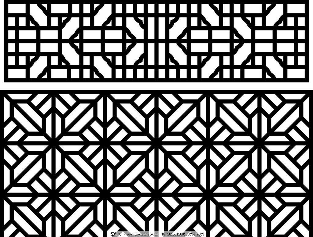 传统花窗 花窗 木工雕刻 木工 家装 雕刻用矢量图形类 设计 文化艺术