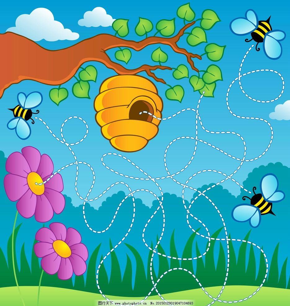 儿童美术蜜蜂图片步骤