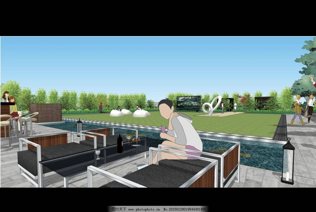休息场地 露天 绿色 风景        设计 文化艺术 其他 300dpi psd
