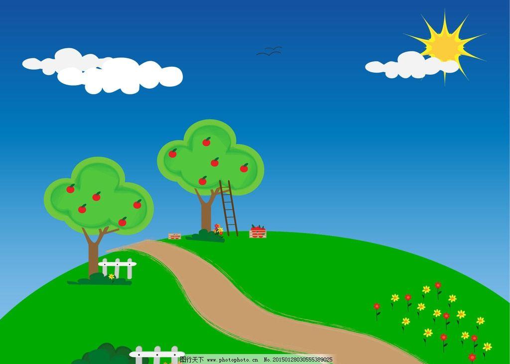 春天公园的漫画图片
