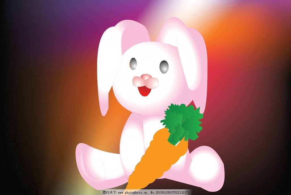 手绘兔子超清电脑壁纸
