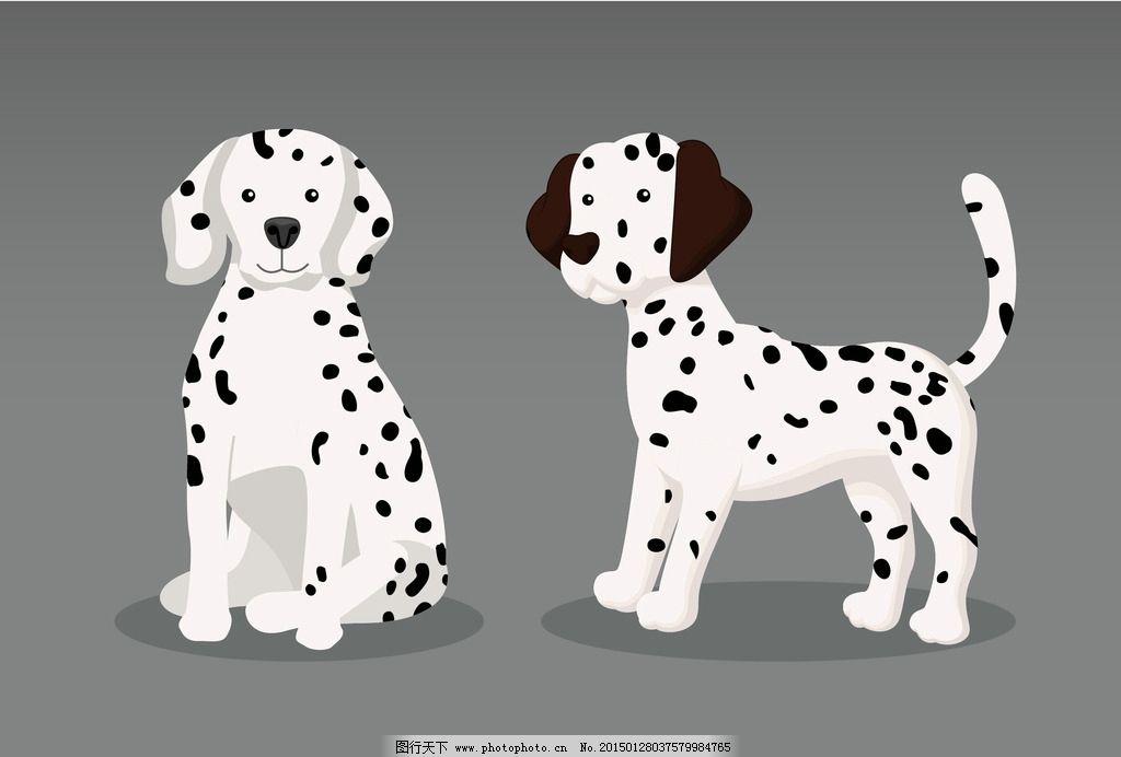 时尚狗狗 斑点狗 斑点狗 卡通动物 狗 动漫动画 动漫人物 卡通 设计