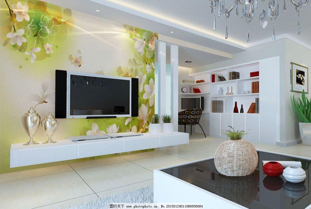 大型壁画 电视背景墙 个性壁画 客厅电视背景 客厅效果图 形象墙 客厅