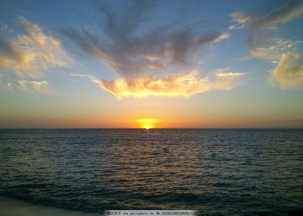 唯美 风景 风光 旅行 自然 秦皇岛 大海 海边 夕阳 落日 日落 黄昏